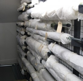 Banner and Rolled Textile Storage Equipment